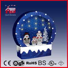 (40110F190-3SB-BB) Snowing Christmas Decorations with Frame-supported and Textile-decorated