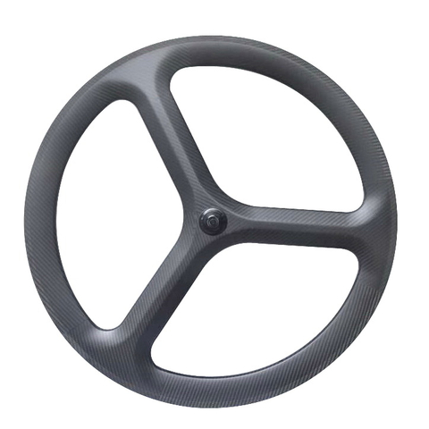 2017 NEW 3 SPOKES ROAD FULL CARBON WHEELS 50MM CLINCHER REAR WHEELS