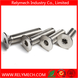 Stainless Steel Countersunk Hex Socket Bolt M2-M20