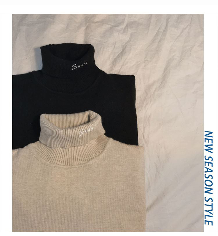 2019AW OEM wool cashmere knitted turtleneck pullover sweater for men