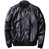 P18E088BE men sheep leather classics fashion motorcycle biker bomber jacket with rib fabric