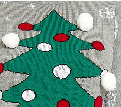 PK1814HX Ugly Christmas sweater X-max Tree-X Large