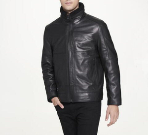 P18E025BW Latest fashion hot sale custom leather jacket for man autumn winter