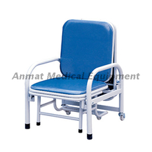 Medical furniture PU cover mattress accompany foldable chair