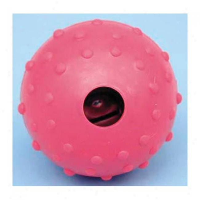 Dog Rubber Nubby Ball with Bell