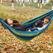 Outdoor Ramie Cotton Fabric Hammock Camping With Customized Logo