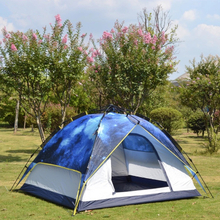 2016 New 4 Person Camping Tent With Fiberglass Pole