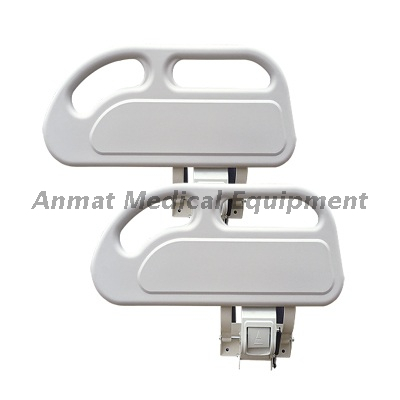 Hospital Bed PP Siderails With Aluminum Alloy Bracket