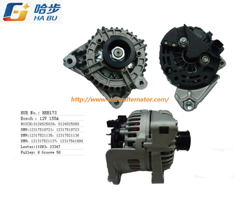 12V Alternator 150A, 0124525080, Ca1825IR, HBB173