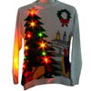 16PKCS08 adults christmas Christmas sweater with LED lights