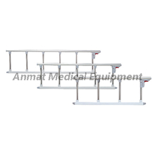 Safety hospital aluminum bed side rail with off white color