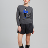 17PKCS059 2017 Knit Wool Cashmere Knitted Lady Sweater