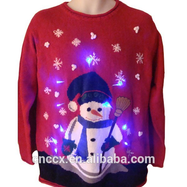 15STC5003 lightup ugly christmas sweater