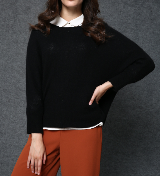 17PKCS489 2017 knit wool cashmere knitted lady sweater