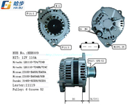 100% New Premium Quality Alternator Fits for Nissan Frontier Pickup Lester11119 Lr1110-724