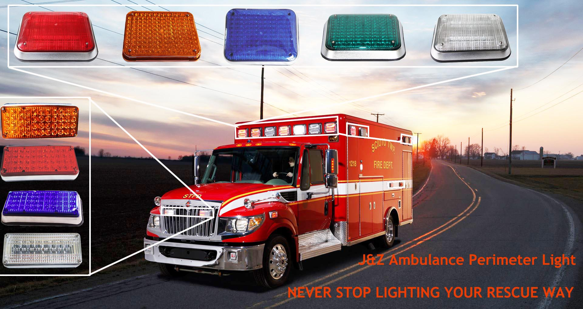JZ AMBULANCE LIGHTS BANNER