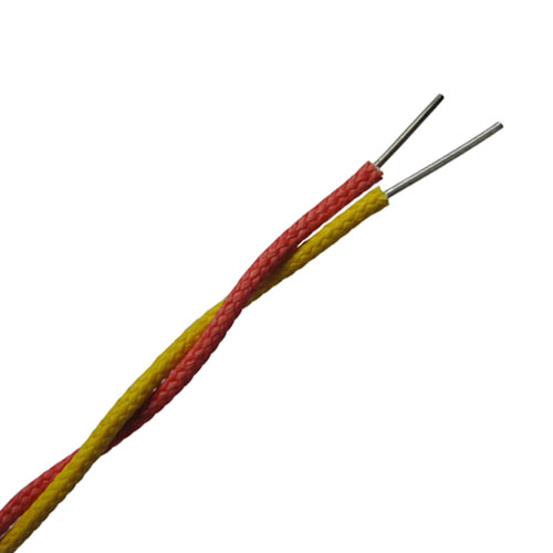 Type Jx Thermocouple Extension Cable : High temperature fiberglass insulated twisted pair