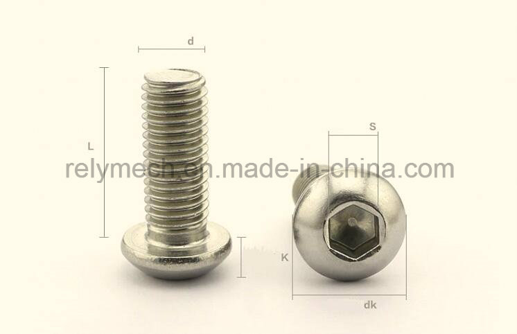 Stainless Steel Hex Socket Pan Head Cap Machine Screw M6-M10