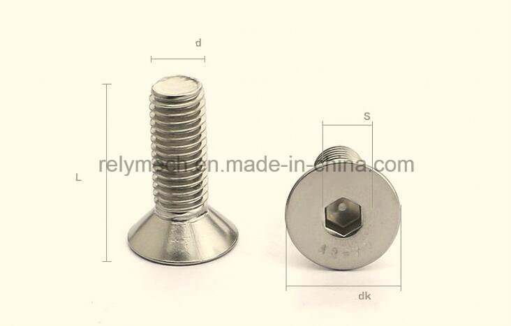 Stainless Steel Countersunk Hex Socket Flat Head Machine Screw M6-M10