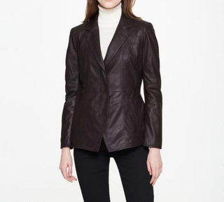 P18E022BW Hot sale up to date fashion genuine leather jacket for women all seasons