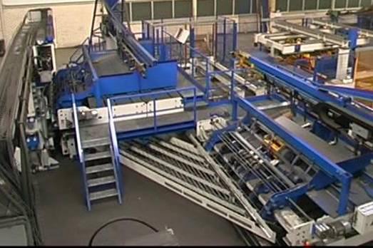 Double silk guard rail network welding apparatus