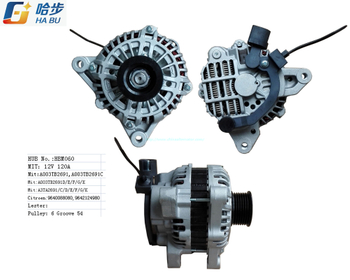 *12V 120A* Car Alternator for Citroen, Peugeot, A003tb2691c, A003tb2691d, A003tb2691e,HBM060