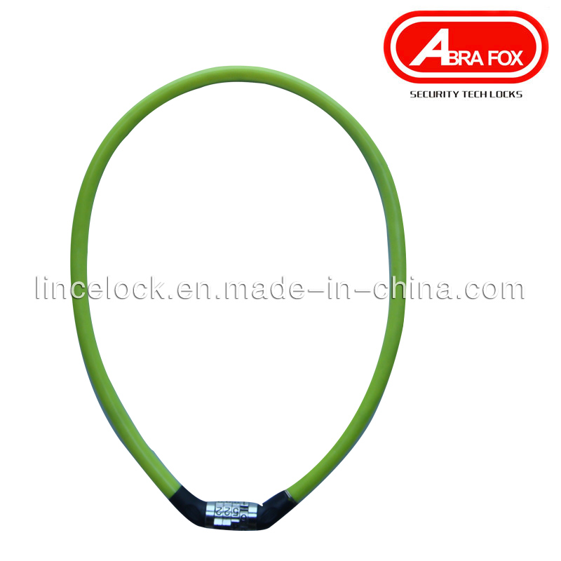 High Quality Combination Code Bicycle Cable Lock (540)