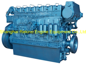 250HP 1000RPM Weichai medium speed marine diesel engine (R6160ZC250-1)