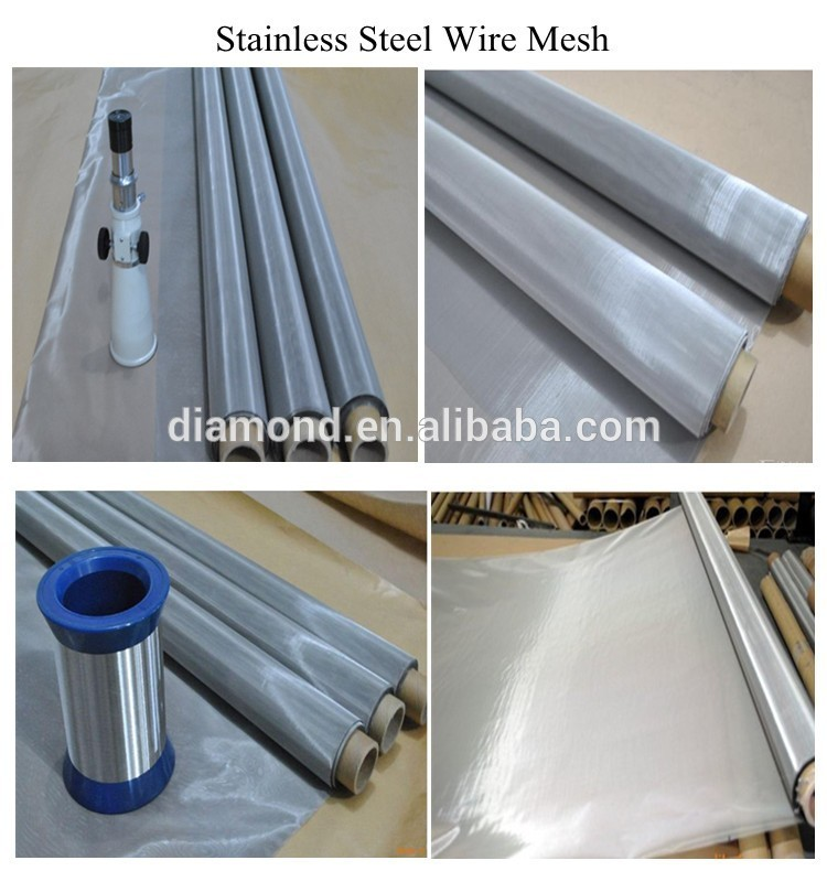 304/316 stainless steel wire mesh price /wire cloth/Metal netting