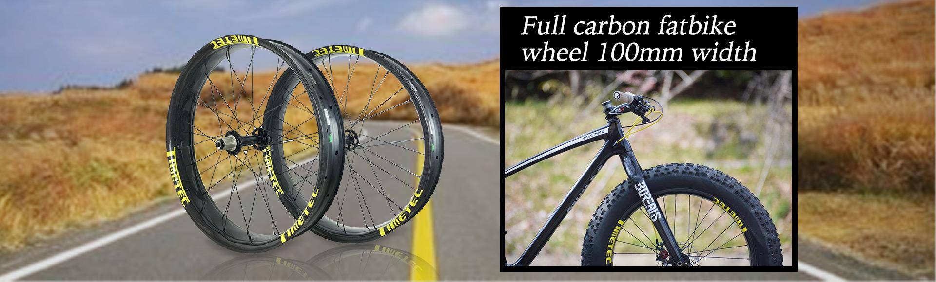 Fat Tire Bike Carbon Fiber Rims Wheels 80mm width 100mm width