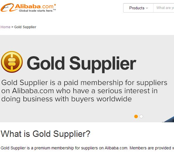Start to be Gold China Supplier on Alibaba