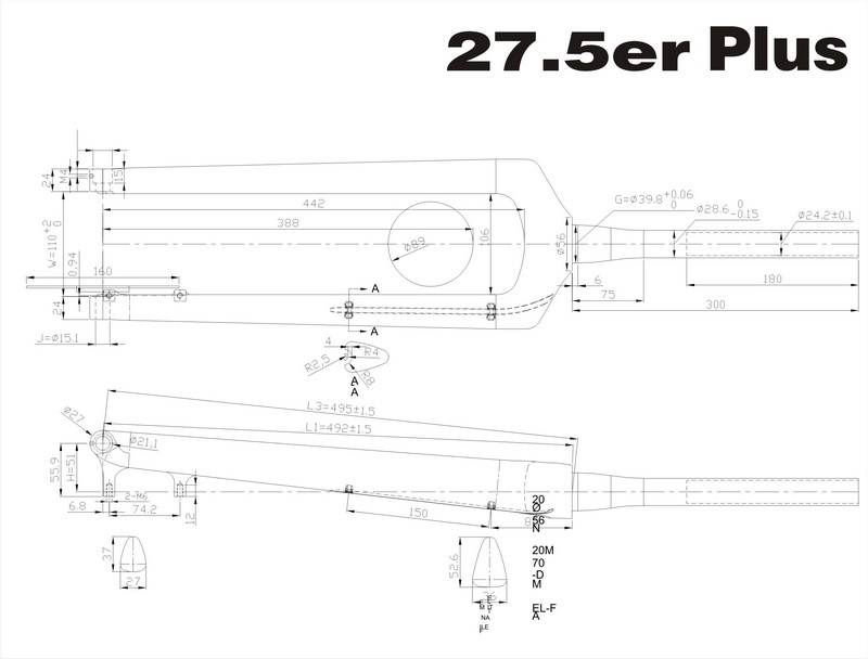 M527 650B plus fork-s