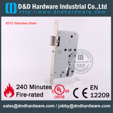 Stainless Steel Grade 304 Fire Rated Night Latch Door Lock with CE EN 12209 for Commercial Escape Exit Wooden Doors -DDML014