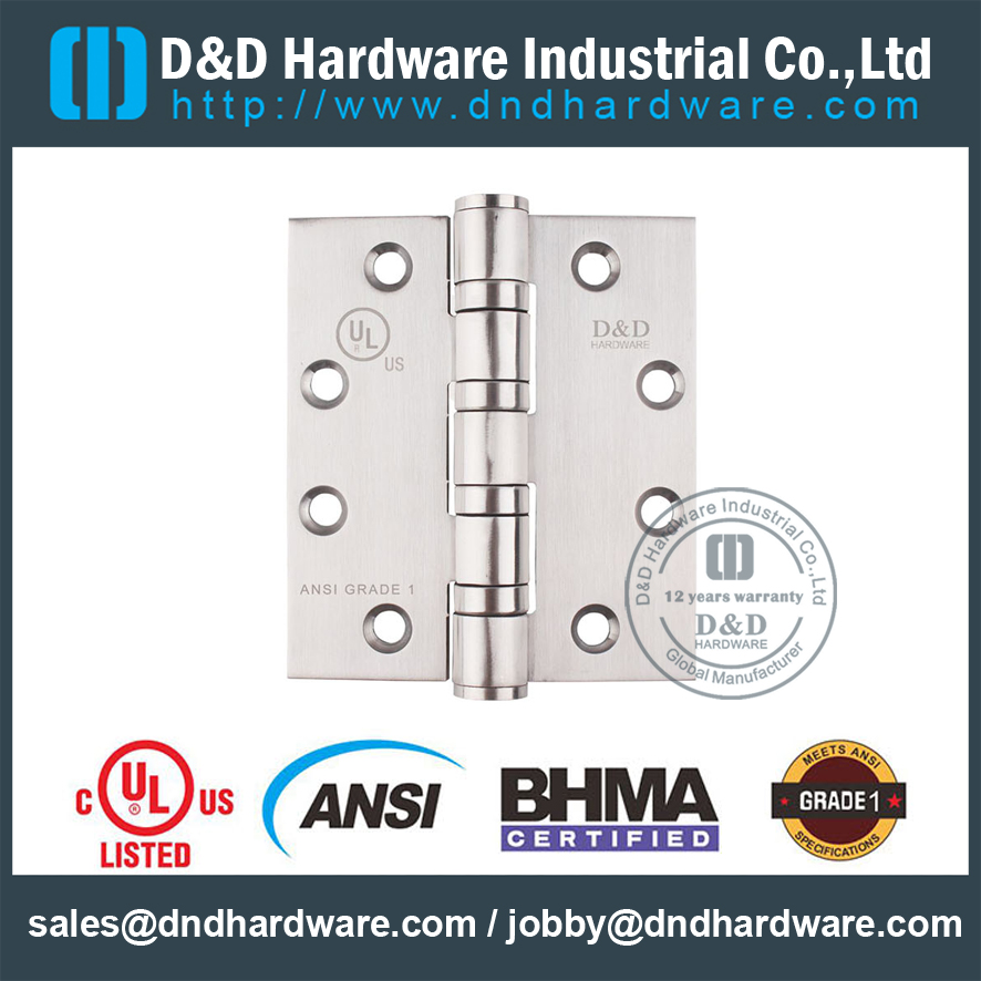 ANSI GRADE 1 DOOR HINGE with UL Listed -D&D HARDWARE