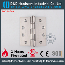 DDSS001-4x3.5x3.0mm-SSS304 Fire Rated 2 Ball Bearing Hinge with UL for Wooden Door