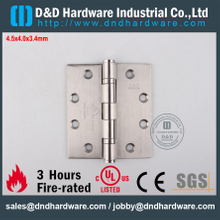 DDSS001-4.5x4x3.4mm-SUS316 Classical UL Fire Rated 2 Ball Bearing Hinge for Interior Door