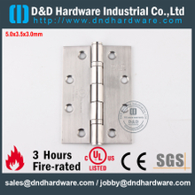 DDSS001-5x3.5x3.0mm-SUS304 Fire Rated 2 Ball Bearing Hinge with UL R38013 for Metal Door