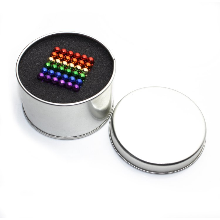 Neodymium permanent magnetic balls color coated