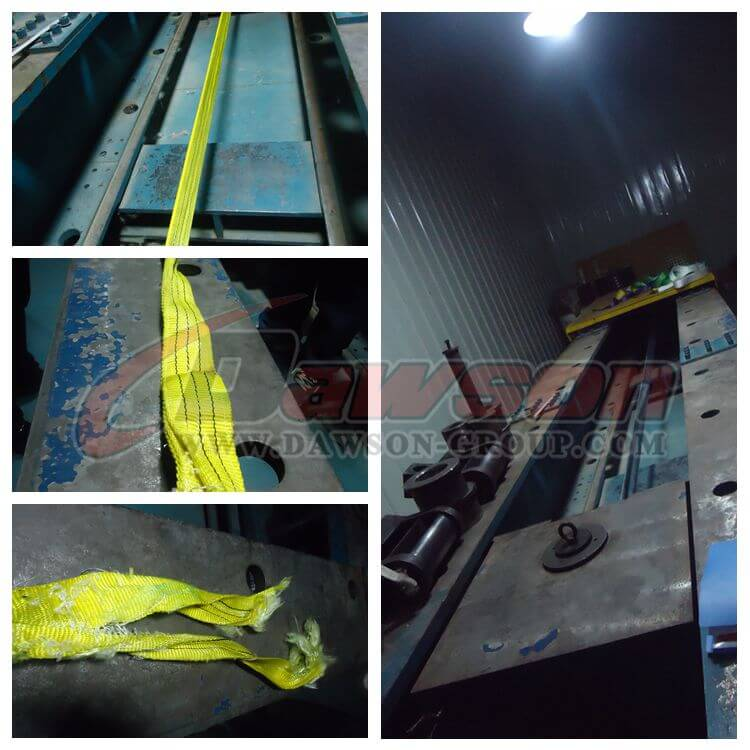 Test of 3 Ton Eye and Eye Webbing Sling for Lifting - Dawson Group Ltd. - China Manufacturer, Supplier, Factory