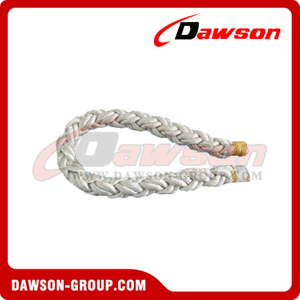 Eight strand rope, mooring rope