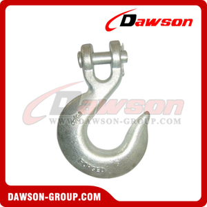 DS124 A331 G70 Grade 70 Forged Alloy Clevis Slip Hook, H331 G43 Grade 43 Forged Carbon Steel Clevis Slip Hook for Lashing or Pulling