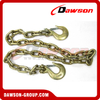 G70 Trailer Safety Chains Assembly with Slip Clevis Hook & Latch on Each End