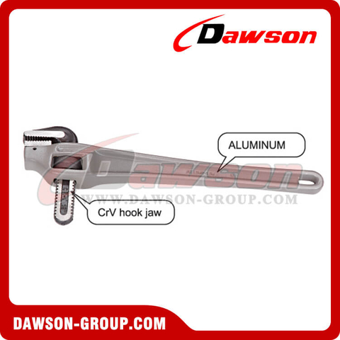 DSTD0506 Aluminum Handle Offset Pipe Wrench