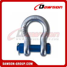 G2130 Bolt Type Anchor Shackle with Safety Pin and Nut