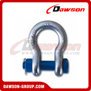 US Type Bolt Type Anchor Shackle with Safety Pin and Nut, S6 Bolt Type Bow Shackle