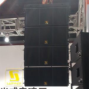Sanway Aero12A y L8028 Active Line Array System en 2017 Guangzhou Prolight + Sound Expo