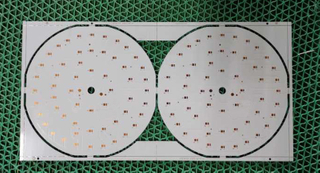 1L 2W Aluminum PCB with countersink holes OSP