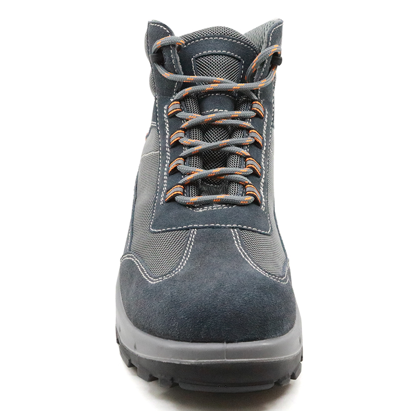 Slip Resistant Suede Leather Steel Toe Cap Puncture Proof Men Sport Type Safety Shoes