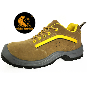 Anti Slip Suede Leather Cheap Working Safety Shoes Steel Toe