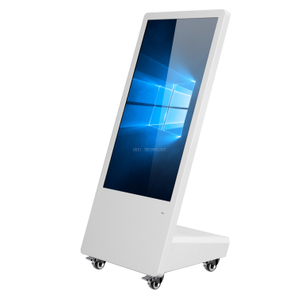 43 Inch Semi Outdoor LED Mobile Advertising Digital Signage Human Walking Digital Billboards